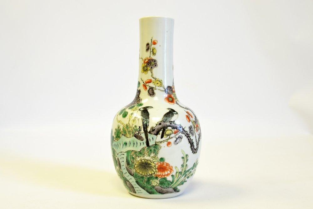 Chinese Wucai Porcelain Bottle Vase