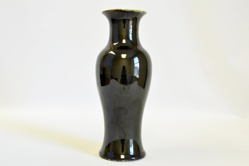 Chinese Famille Noir Baluster Vase