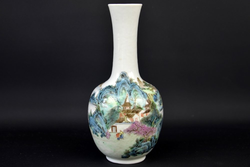 A Chinese Famille Rose Vase, Republic Period