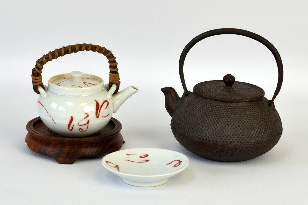 Japanese Iron and Ceramic Teapots