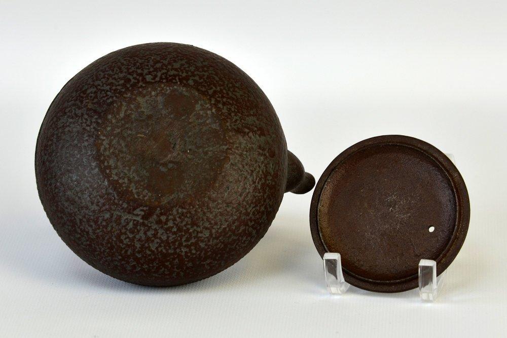Japanese Iron and Ceramic Teapots - 6