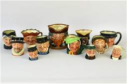 Twelve Assorted Royal Doulton Character & TobyJugs