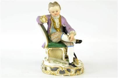 A Late 19th Century Meissen Figure of a Boy