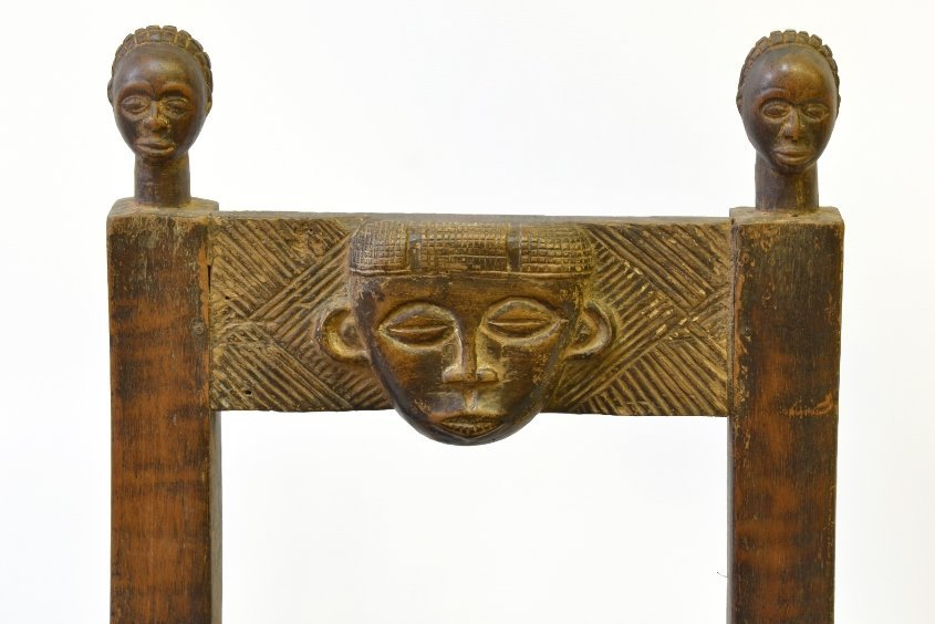 An African Carved Wood Fertility Chair - 5