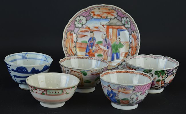A Group of Chinese Export Small Porcelains