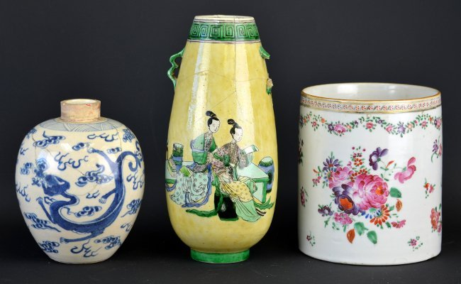 A Group of Chinese Porcelain Vases & Mug