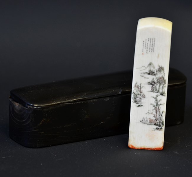 A 19th Century Chinese Ivory Seal with Box