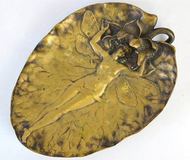An Alexandre Vibert Art Nouveau Bronze Dish