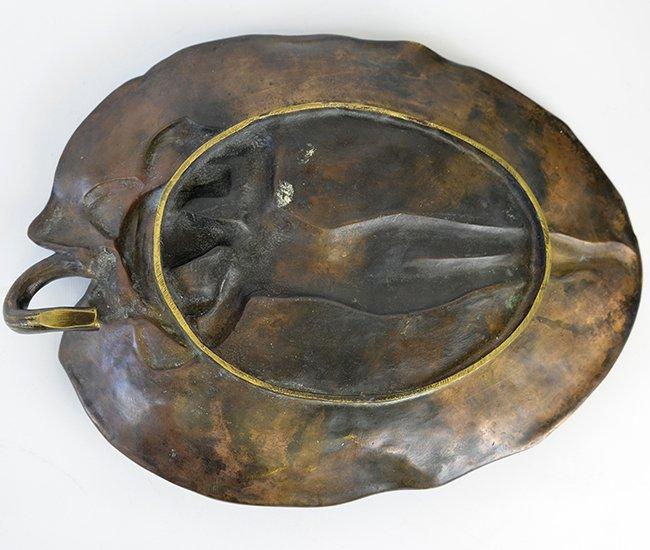 An Alexandre Vibert Art Nouveau Bronze Dish - 4