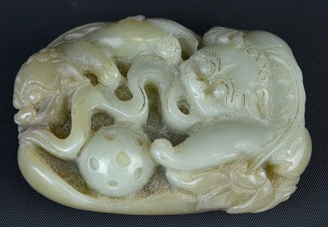 A Chinese Celadon Jade Model