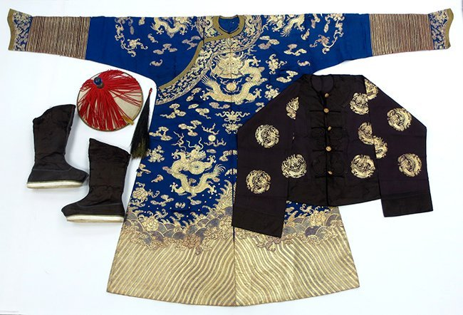 A Late Qing Chinese Official's Clothing Suite