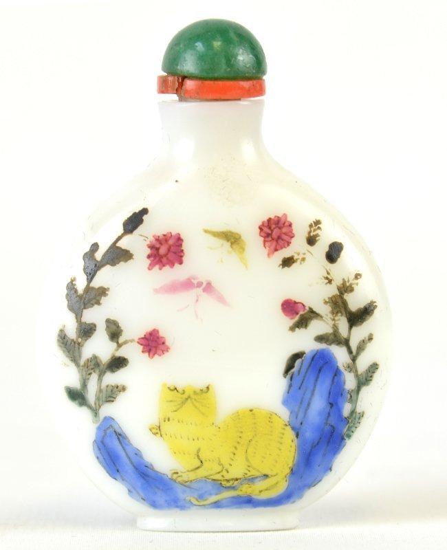 An 18th C. Chinese White Peking Glass Snuff Bottle