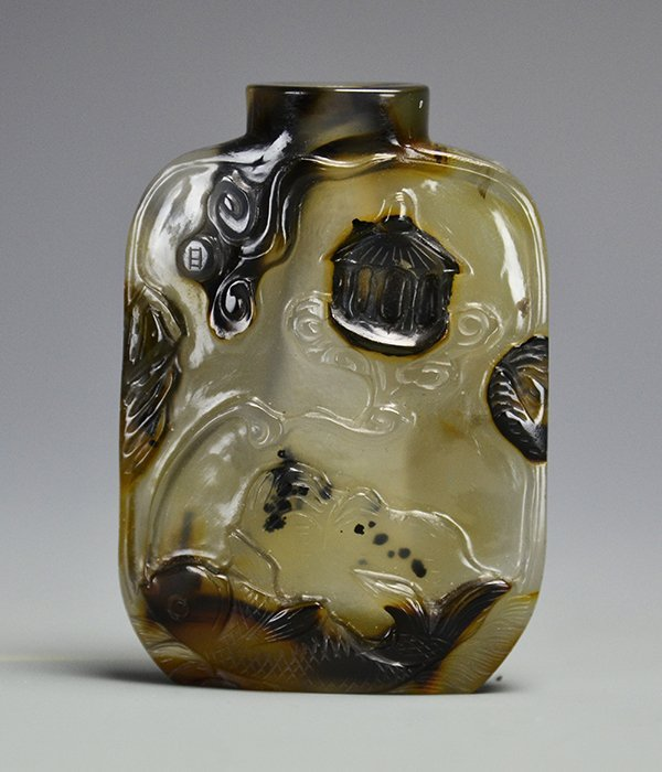 A Chinese Agate Snuff Bottle, 18th Century