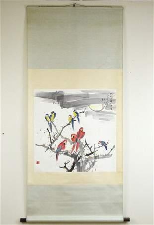 Wu Guanzhong (1919-2010), Parrots, Painting