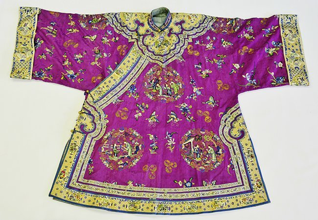 A Chinese Woman's Silk Embroidered Robe