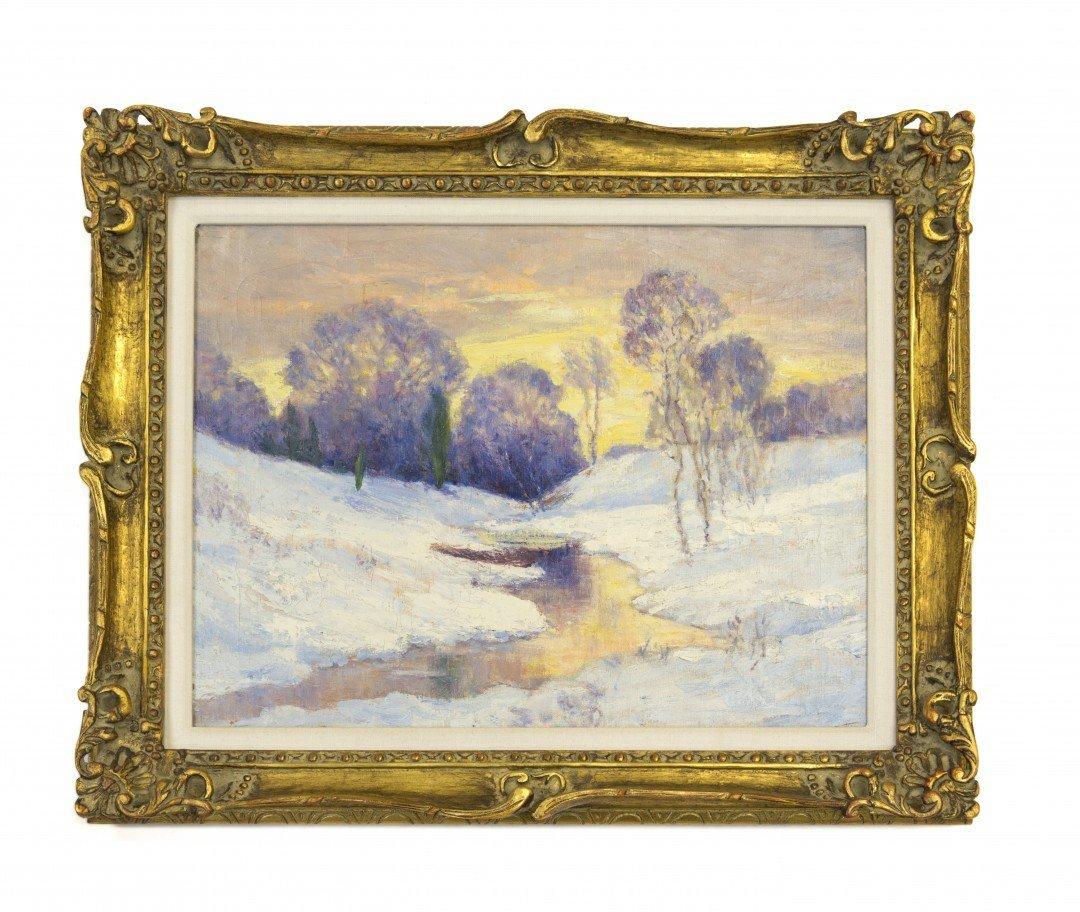Ernest Lawson, Landscape, Wilton, Connecticut