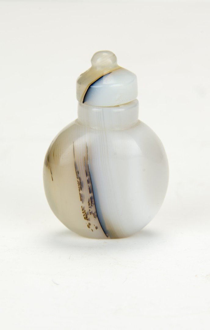 A White Agate Snuff Bottle