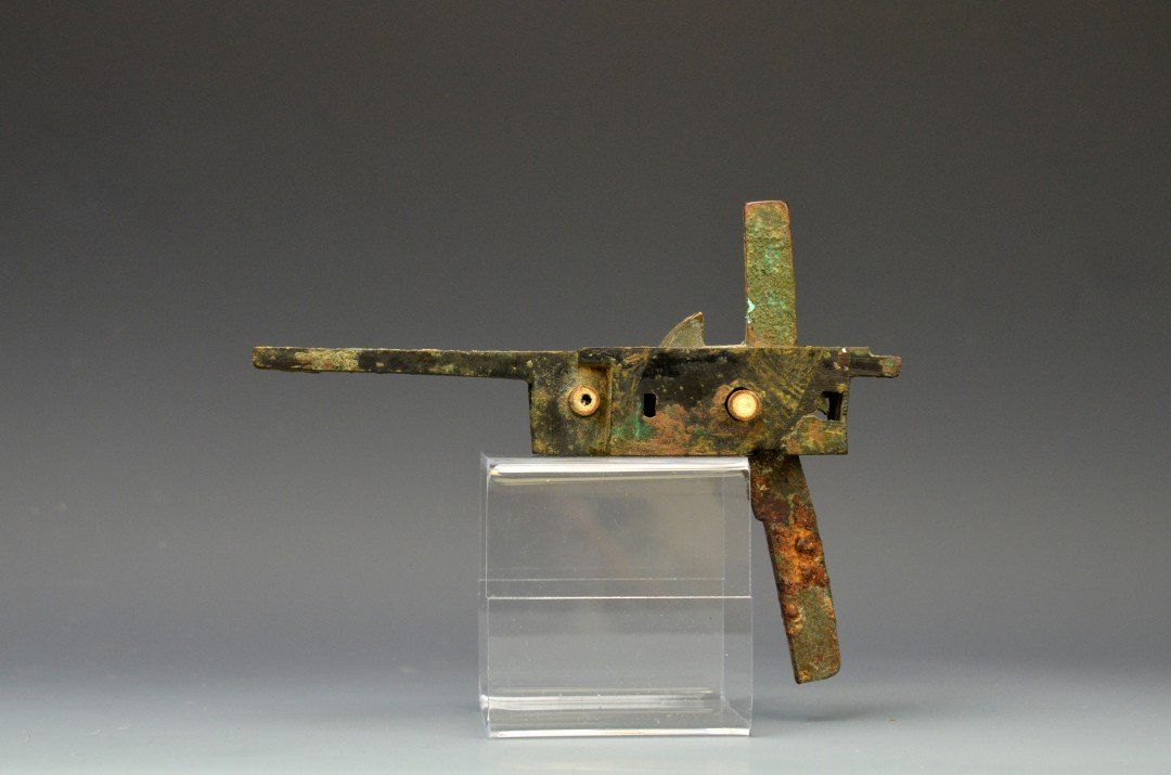 A Chinese Bronze Crossbow Trigger, Han Dynasty
