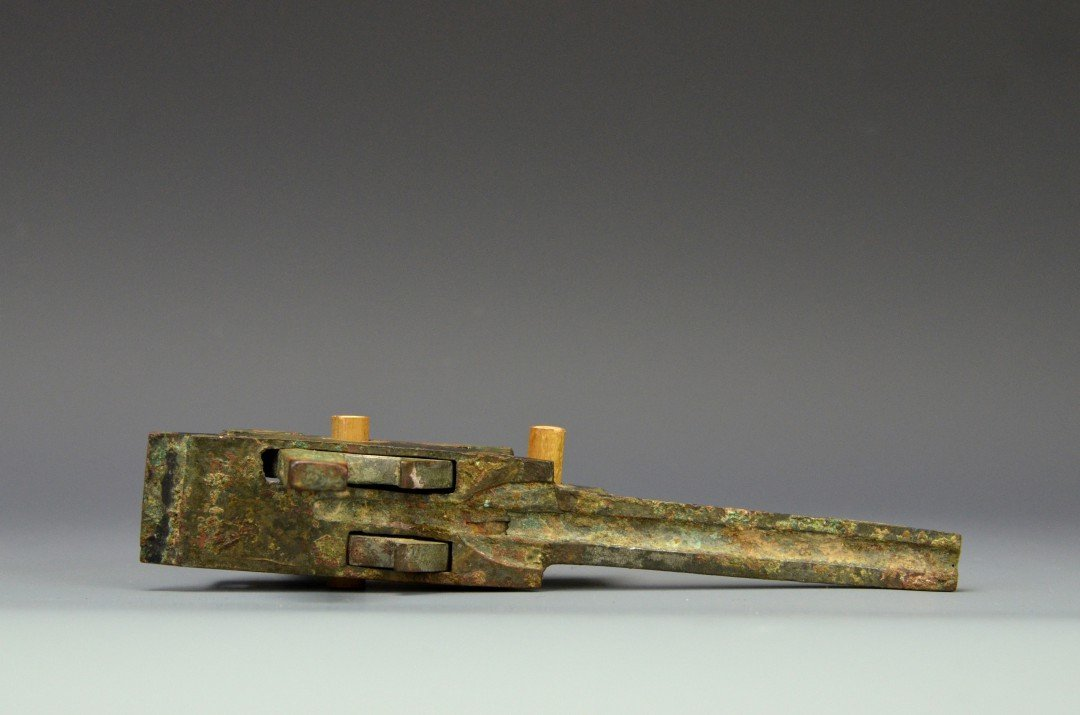 A Chinese Bronze Crossbow Trigger, Han Dynasty - 4