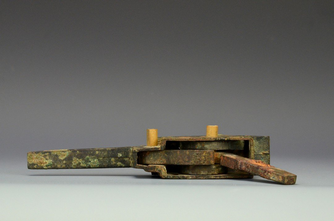 A Chinese Bronze Crossbow Trigger, Han Dynasty - 5