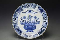 A Chinese Blue and White Large Porcelain Dish