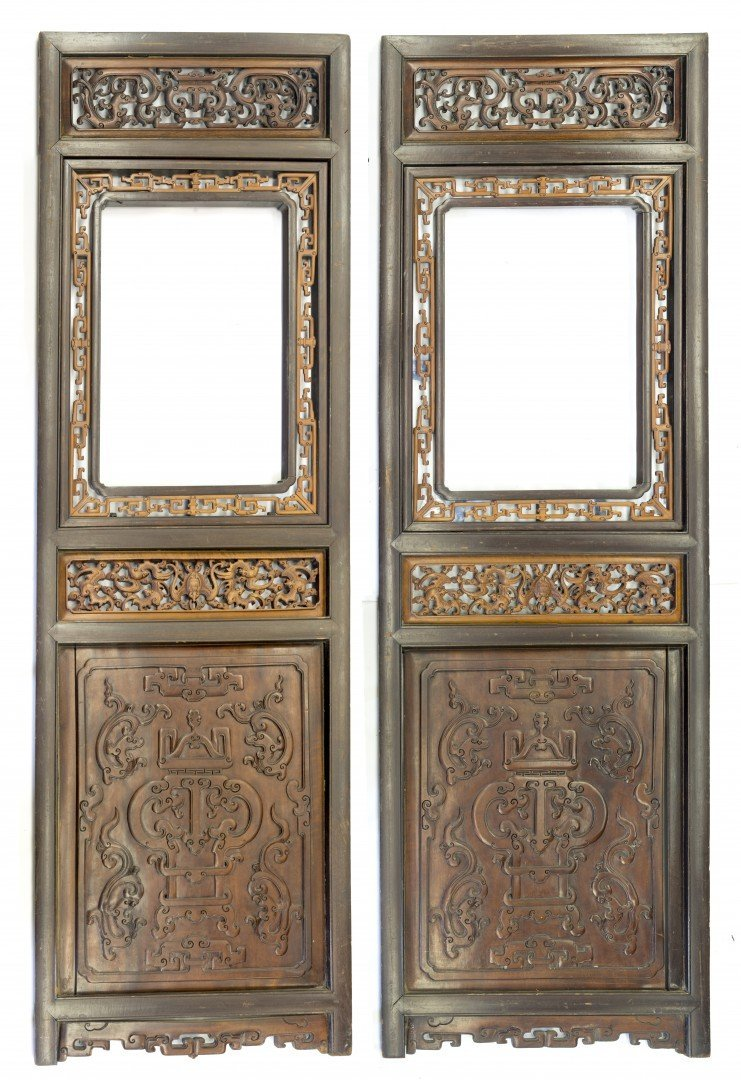 A Pair of Chinese Wooden Doors