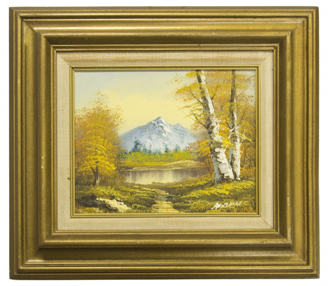A Painting of a Mountainous Landscape