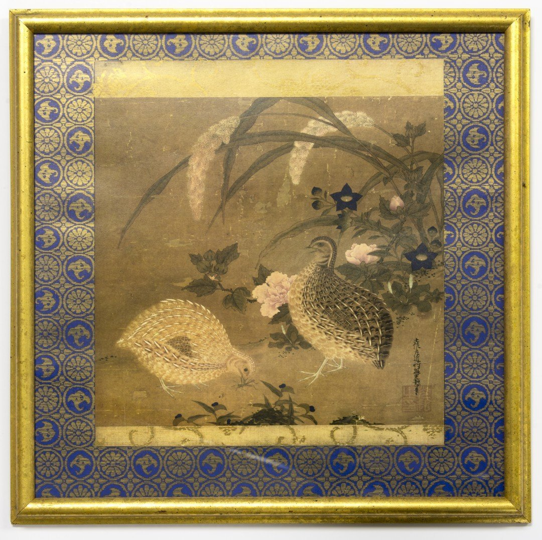 A Japanese Print of Two Quail