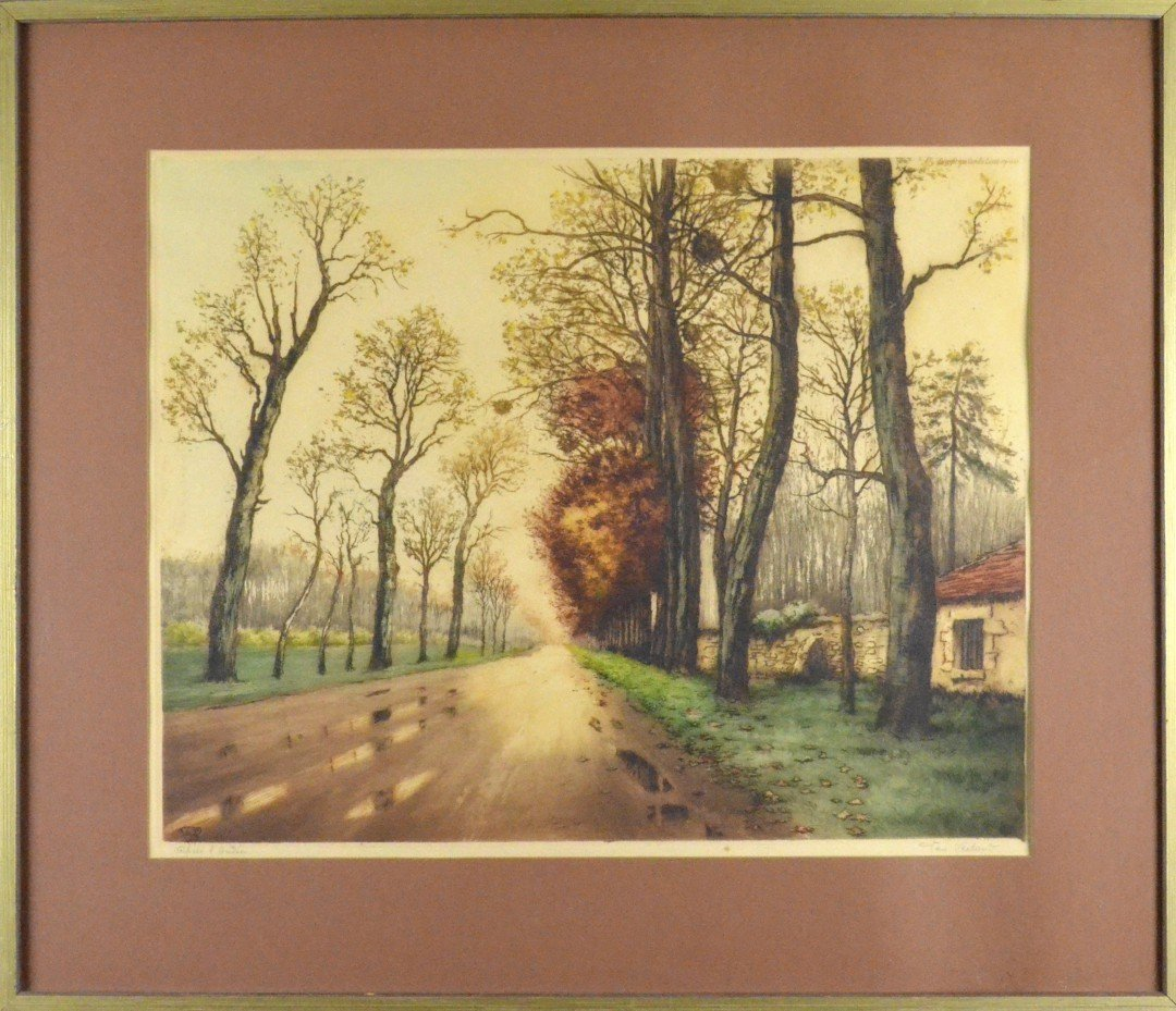 A Color Print of a Country Road