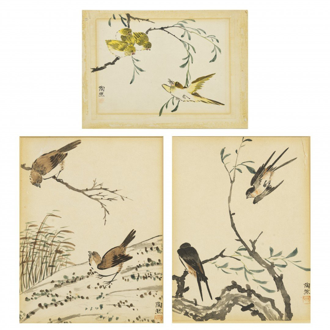 A Lot of Three Bird and Flower Paintings, Tao Ran