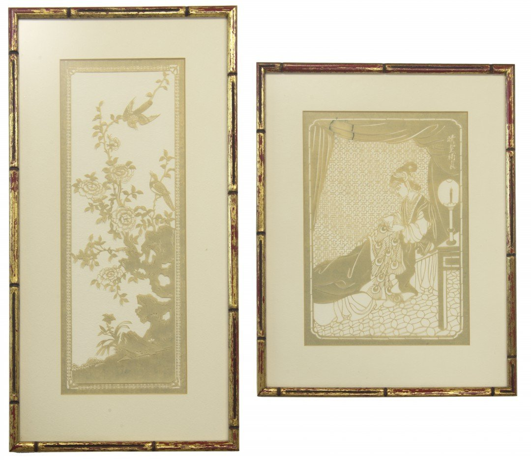 A Lot of Two Framed Chinese Paper Cuts