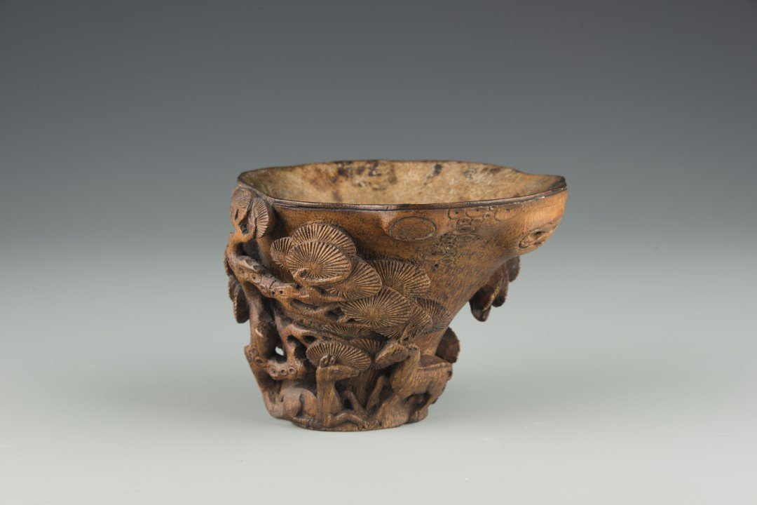 A Chinese Bamboo Libation Cup