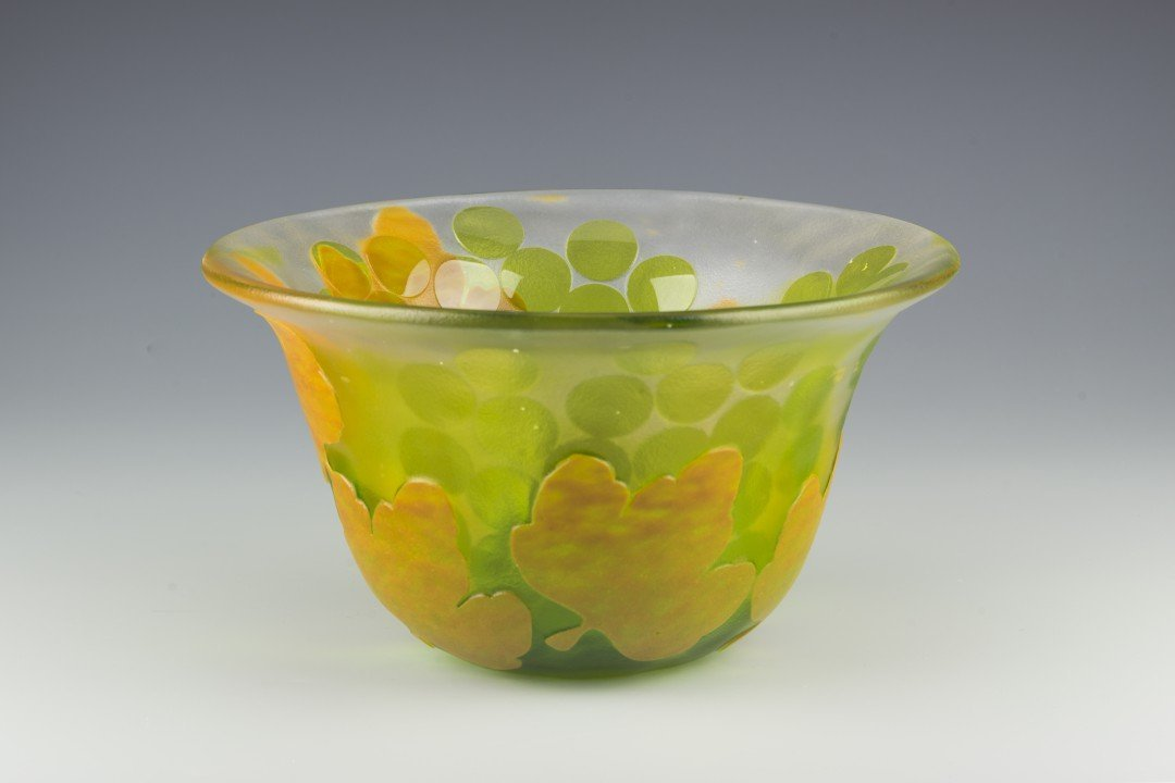 A Kosta Boda Cameo Glass Bowl, Paul Hoff
