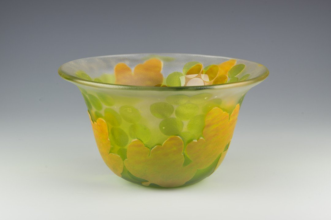 A Kosta Boda Cameo Glass Bowl, Paul Hoff - 2