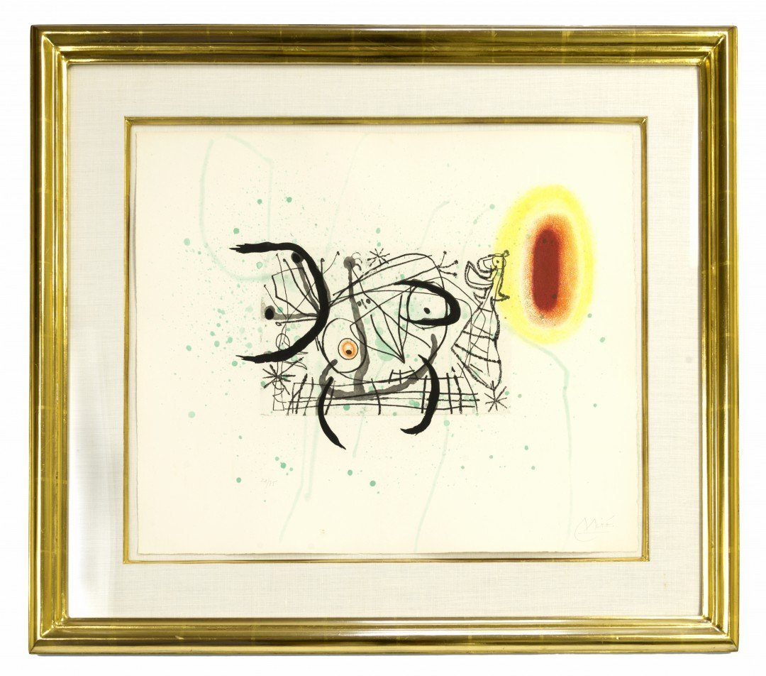 Joan Miro (Spanish, 1893-1983) One Plate, Fissures