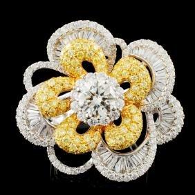 18K Gold 4.61ctw Diamond Ring