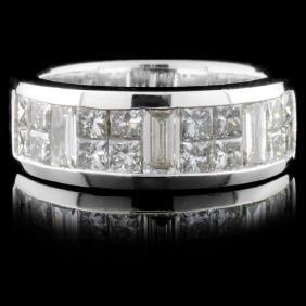 Solid Platinum 1.60ctw Diamond Ring