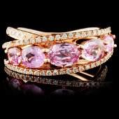 18K Rose Gold 188ct Sapphire  029ct Diamond Rin