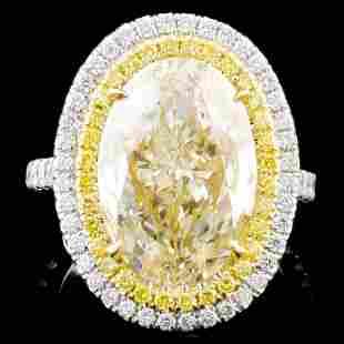 18K White Gold 813ctw Fancy Diamond Ring