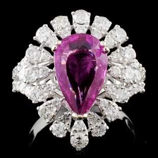18K W Gold 292ct Sapphire 168ct Diamond Ring