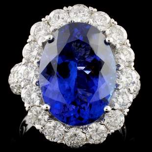 18K White Gold 816ct Tanzanite 263ct Diamond R