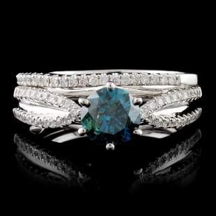 18K White Gold 124ctw Fancy Diamond Ring