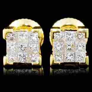 18K Gold 050ctw Diamond Earrings
