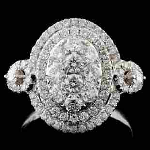 18K White Gold 126ct Diamond Ring