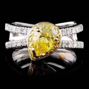 18K White Gold 135ctw Fancy Color Diamond Ring