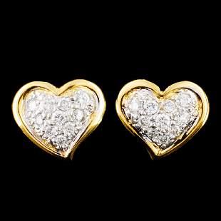 18K Gold 041ctw Diamond Earrings
