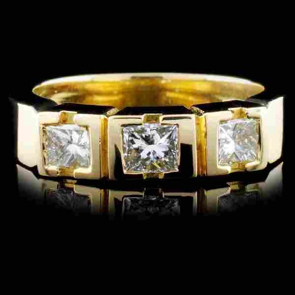 18K Yellow Gold 0.69ctw Diamond Ring