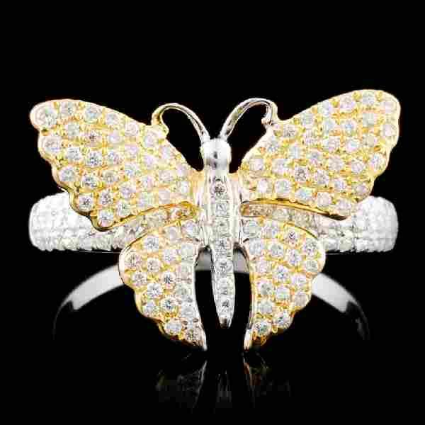 14K Gold 0.91ctw Diamond Ring