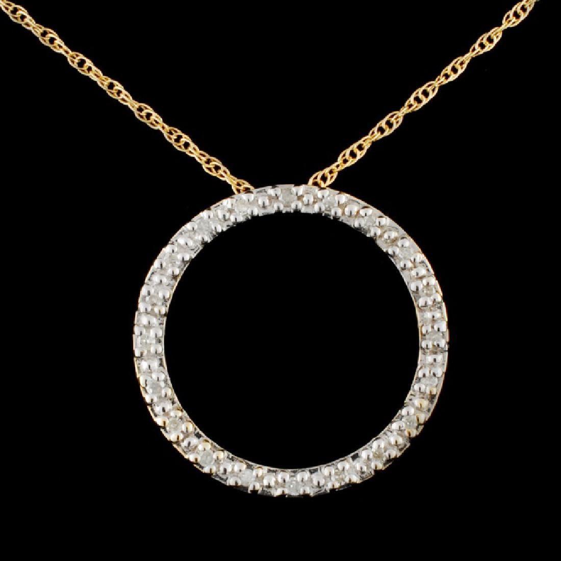 14K Gold 0.37ctw Diamond Pendant