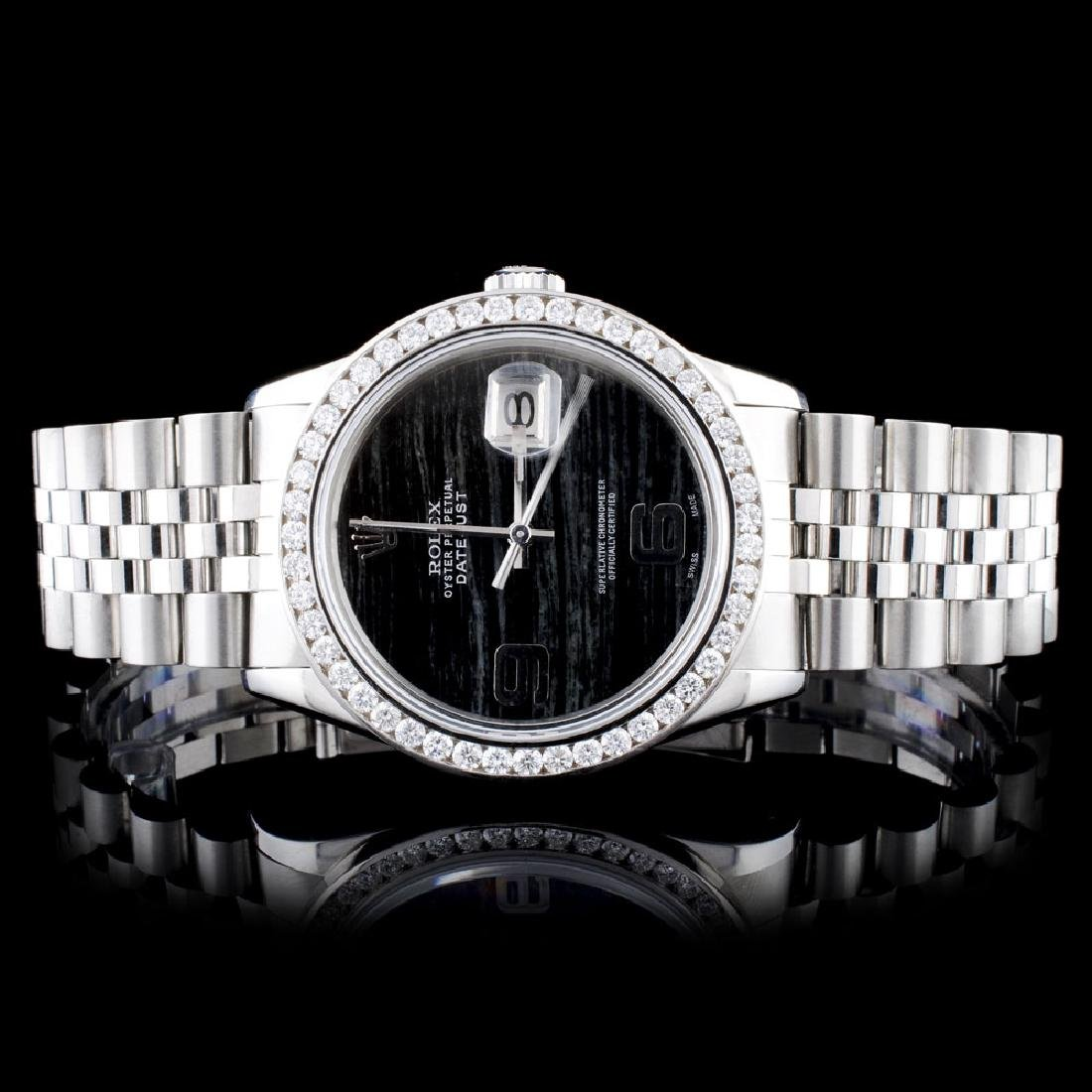 Rolex SS DateJust 1.50ct Diamond 36MM Wristwatch